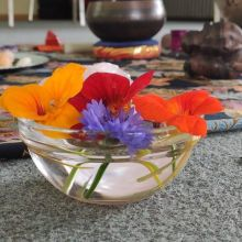 Bloemenschaaltje in de zaal